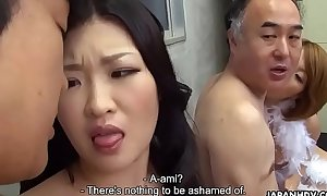 Twosome Japanese wives acquire drilled with the addition of facialized hand in glove quickly