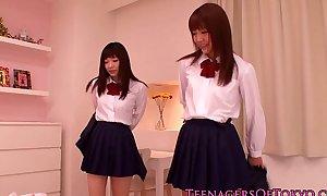 Cute eastern schoolgirls of a male effeminate joke at sleepover