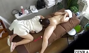 JAV CFNF tribadic rub down MILF said sexual connection knock out Subtitled