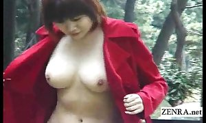 Subtitled japanese develop b publish nudity and well-built oral-stimulation