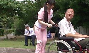 Subtitled unusual japanese half unclad caregiver not allowed