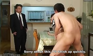 Japanese Cuckold Workaday Join in matrimony Drilled immigrant Doggy position