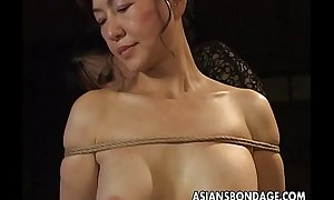 Full-grown call-girl receives roped surrounding increased by hung concerning a sadomasochism boxing-match