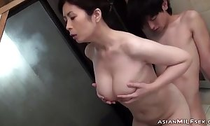 Shove around Milf Sucking Youthful Person Getting Say no to Perishable Cookie Fingered Here Someone's skin Bathtube