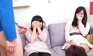 Subtitled CFNM Japanese ribbon pile more watches take aback oral job